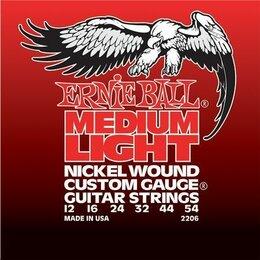 Струны - 2206 Ernie Ball Nickel Wound Medium Light никель 12-54. Доставка, 0