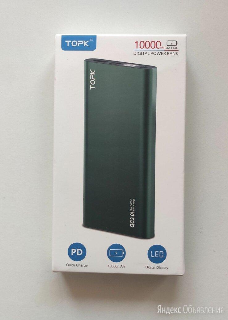 Power Bank Topk 10000 mAh по цене 750₽ - Универсальные внешние аккумуляторы, фото 0