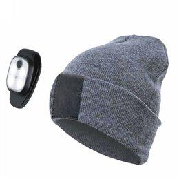 Средства для интимной гигиены - Космос фонарь налобный-шапка серая, акк.Li-Pol 3,7V 300mAh 1W 130lm 3 реж.з/у..., 0