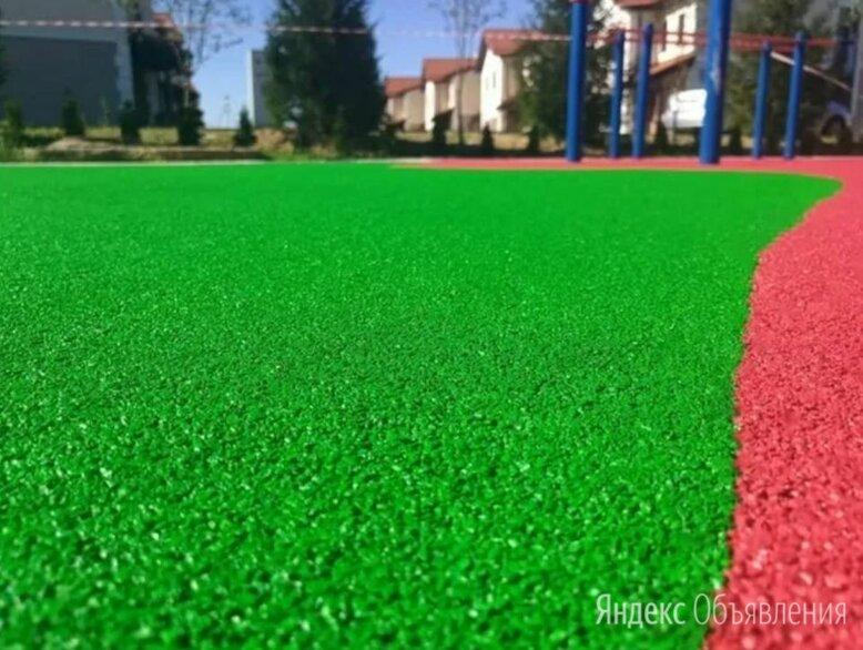 Зеленое резиновое покрытие  по цене 400₽ - Садовые дорожки и покрытия, фото 0
