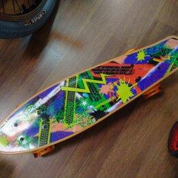 Скейтборды и лонгборды - Пенниборд пластиковый с принтом, 0