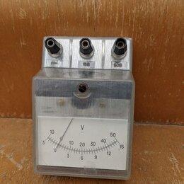 Измерительные инструменты и приборы - Вольтметр постоянного тока, учебный-2, 0