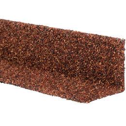 Отделочный профиль, уголки - Уголок внутренний металлический HAUBERK Терракотовый 50*50*1250мм, 0