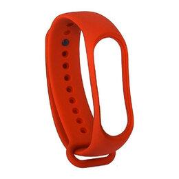 Ремешки для часов - Силиконовый ремешок Xiaomi Mi Band 4/ Mi Band 3 (Красный), 0