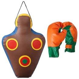 Тренировочные снаряды - Набор для бокса детский IDEAL Прицеленный удар (перчатки+груша), 0