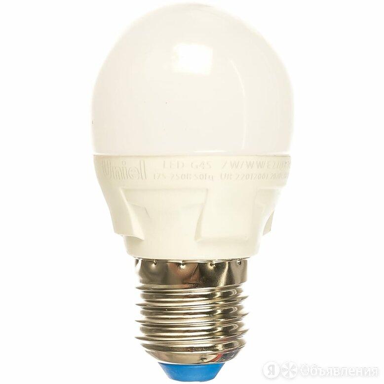 Светодиодная лампа Uniel ЯРКАЯ LED-G45 7W/WW/E27/FR PLP01WH по цене 169₽ - Люстры и потолочные светильники, фото 0