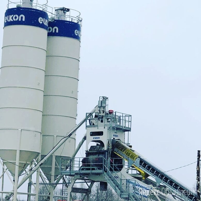Быстромонтируемый бетонный завод ELKON Elkomix-60 quick master по цене 12900000₽ - Производство, фото 0
