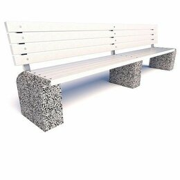 Скамейки - Скамейка бетонная Евро 1 Лайн со спинкой, 0