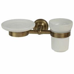 Мыльницы, стаканы и дозаторы - Migliore Mirella Мыльница и стакан настенные, керамика, бронза 27670+27671+28154, 0