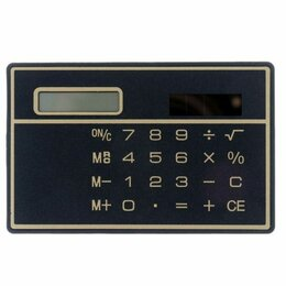Калькуляторы - Калькулятор-визитка на солнечной батарее, 0