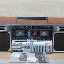 """Музыкальные центры,  магнитофоны, магнитолы - Магнитола  двухкассетная  """"Sharp"""", 0"""
