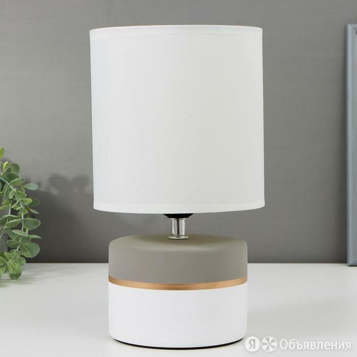 Лампа настольная 16373/1 E27 40Вт бело-серый 16х16х29 см по цене 1707₽ - Настольные лампы и светильники, фото 0