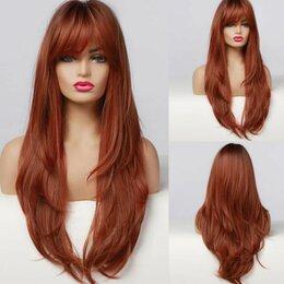 Аксессуары для волос - Парик волнистый длинный с челкой Омбре, 0