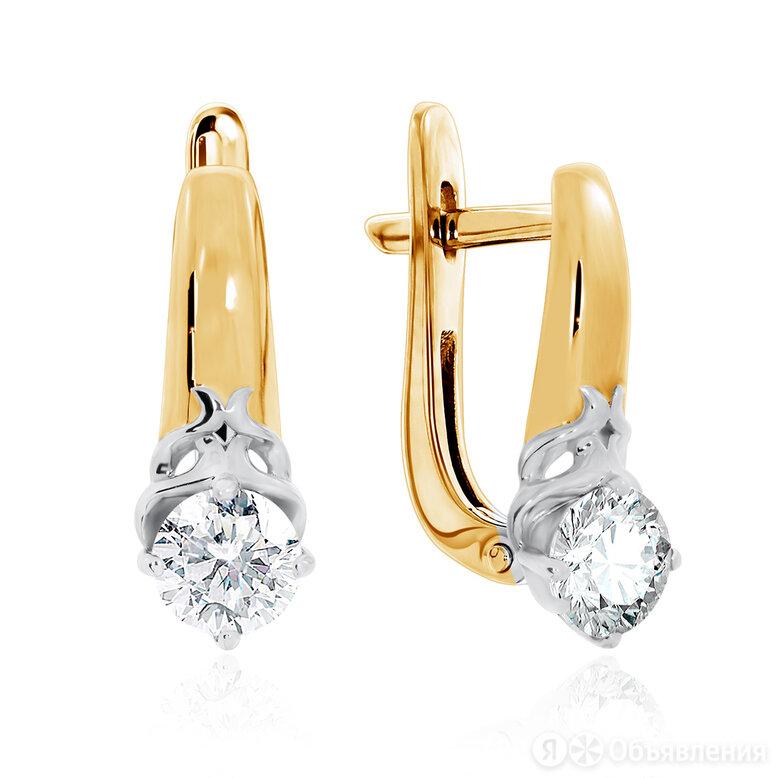 Серьги из золота с фианитами KRASNOE по цене 14294₽ - Серьги, фото 0