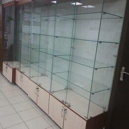 Витрины - Стеклянная шкаф-витрина высота 2 м, 5шт, 0