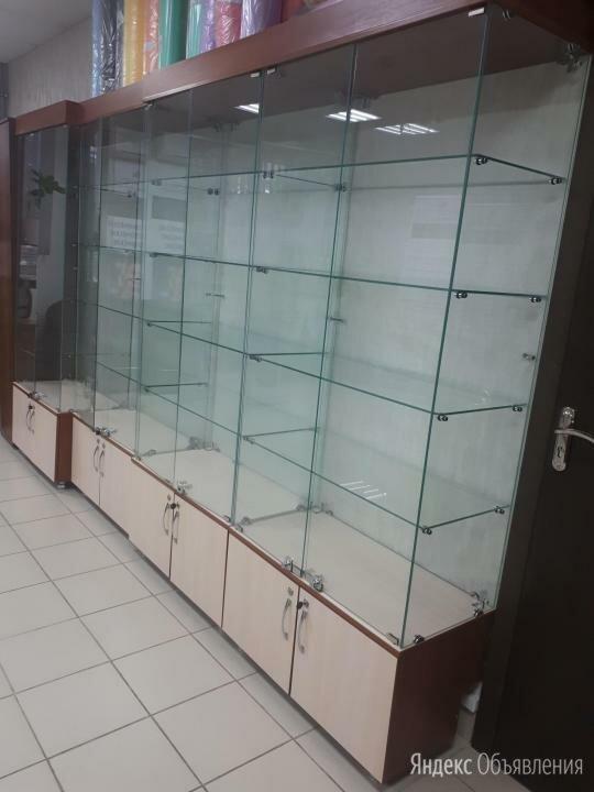 Стеклянная шкаф-витрина высота 2 м, 5шт по цене 8000₽ - Витрины, фото 0