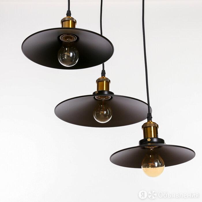 Люстра 'Квеснел' 3х40Вт черный Е27 30х30х10 см по цене 5015₽ - Люстры и потолочные светильники, фото 0