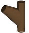 Тройник трубы D100 (Шоколад) по цене 3071₽ - Кровля и водосток, фото 0