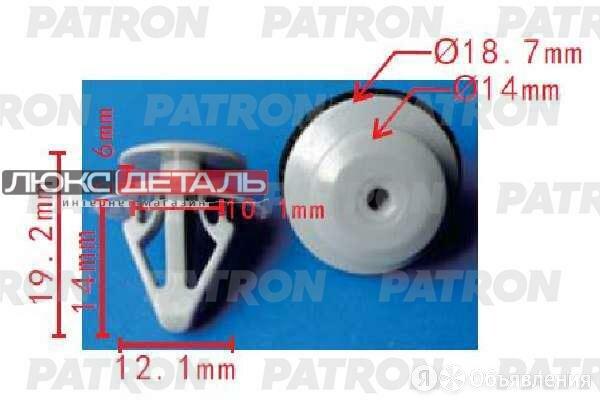 PATRON P371697 Клипса пластмассовая Mazda применяемость подкрылки, защита, вн... по цене 15₽ - Кузовные запчасти , фото 0
