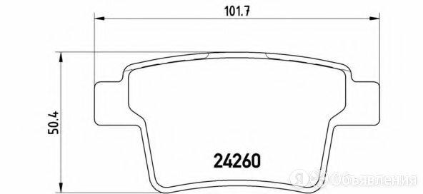Колодки тормозные дисковые зад Brembo P 24 063 по цене 2220₽ - Тормозная система , фото 0
