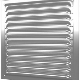 Вентиляционные решётки - Решетка 250х250   металлическая   2525МЦ   ЭРА, 0