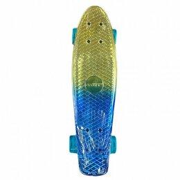 Скейтборды и лонгборды - Скейтборд Explore Ecoline NEO/6 пенниборд синий/золотой, 0