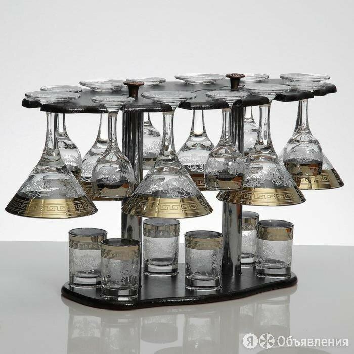 Мини-бар 18 предметов мартини 190 мл + рюмка 55 мл + стопка 50 мл по цене 3848₽ - Сервизы и наборы, фото 0