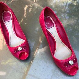 Туфли - Туфли с открытым носом, Christian Dior, оригинал, 40р, 0
