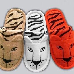 """Домашняя обувь - Детские флисовые тапочки """"Тигры"""", 0"""
