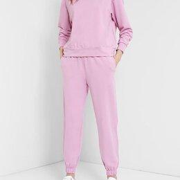 Костюмы - Розовый спортивный костюм из футера, 0