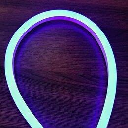 Светодиодные ленты - Синий гибкий неон 12 В, 8*16 мм, кратность реза 25 мм., 0