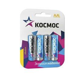 Батарейки - Элемент питания алкалиновый LR LR6 BP-4 (блист.4шт) Космос KOCLR64BL_cla..., 0
