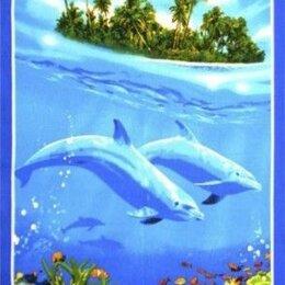 Полотенца - Полотенце вафельное Дельфины, 0