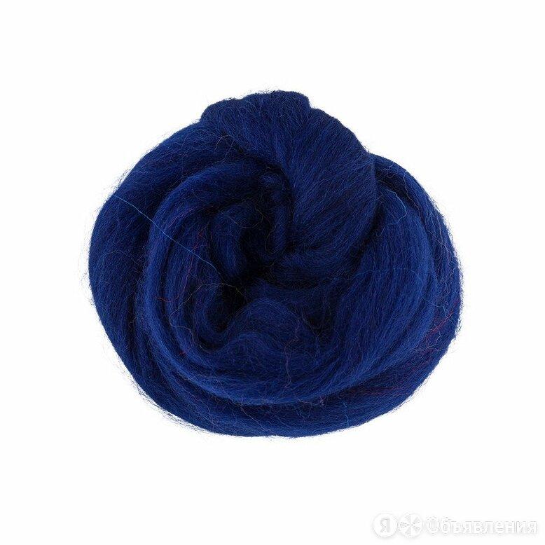 Шерсть для валяния Gamma TFS-050 100% полутонкая шерсть 50г №0100 т. синий по цене 150₽ - Древесно-плитные материалы, фото 0
