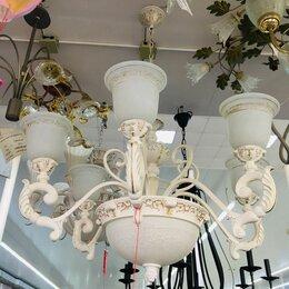 Люстры и потолочные светильники - Подвесная люстра белая 6+3, 0