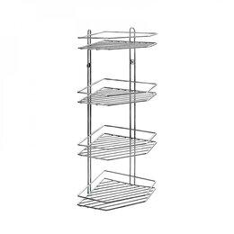 Полки, шкафчики, этажерки - Аквалиния Полка для ванной Аквалиния угловая 4-ая W2675-4, 0