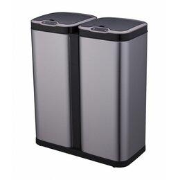 Мусорные ведра и баки - Ведро для раздельного сбора мусора, сенсорное, 2 емкости, Foodatlas  JAH-8523..., 0