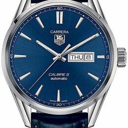 Наручные часы - TAG Heuer Carrera Calibre 5 Day Date Blue Dial 41mm WAR201E.FC6292, 0