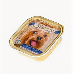 Корма  - MISTER STUZZY DOG консервы для собак 150г, с Телятиной и Морковью, алюпак , 0