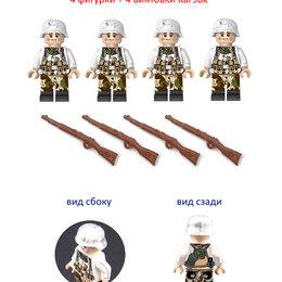 Конструкторы - Набор 4 лего фигурки немецких солдат зимняя форма WW2 вторая мировая война, 0