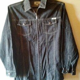 Рубашки - Рубашка джинсовая CECIL черная р.46, 0