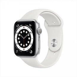 Умные часы и браслеты - Apple Watch Series 6 GPS 40mm Silver Aluminum Case With White Sport Band / MG283, 0