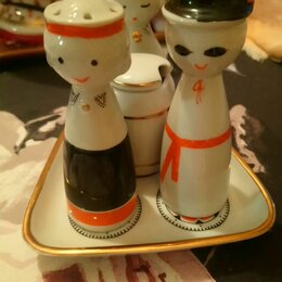 Посуда - Рижский фарфоровый завод набор для специй СССР , 0