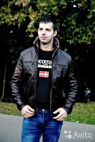 Куртка мужская кожзаменитель зима по цене 5000₽ - Куртки, фото 0