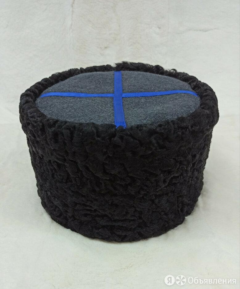 """Папаха """"Кубанка"""" низкая  черный  каракуль темно-серый верх мягкая по цене 4500₽ - Головные уборы, фото 0"""