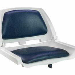 Походная мебель - Кресло складное мягкое TRAVELER, цвет белый/синий, 0