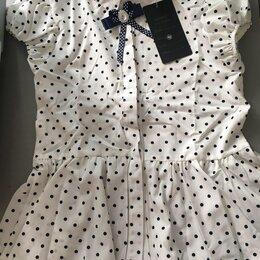 Рубашки и блузы - Блузка в горошек на рост 140 для девочки, 0