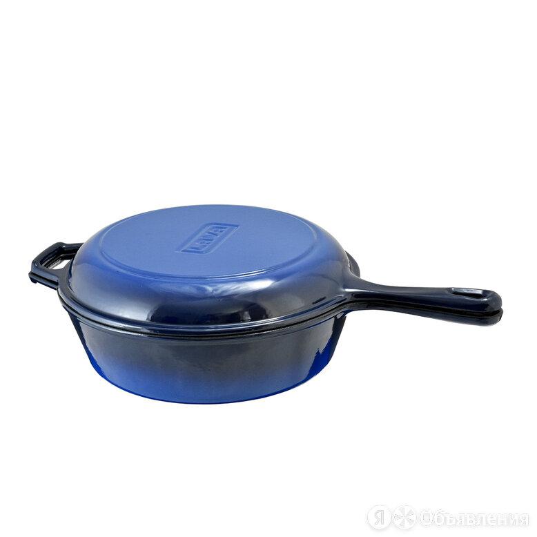 Комбинированный набор чугунной посуды: глубокая сковорода  Ø=27cm H=9,5 cm , ско по цене 8316₽ - Сковороды и сотейники, фото 0