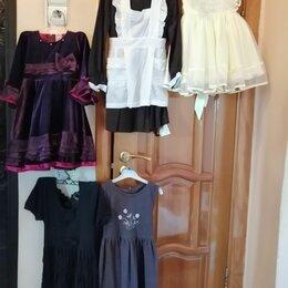 Платья и сарафаны - Школьная форма, фартук, платья: бархат, трикотаж, сарафан шерсть на 4-7 лет, 0