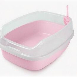 Биотуалеты - Туалет прямоугольный  розовый большой с бортом и совком 62*46*25, 0